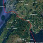Crinan Canal mapa trasy