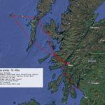 Trasa plavby Svata Kilda Skotsko - Detail