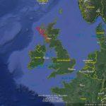 Trasa plavby Svata Kilda Skotsko