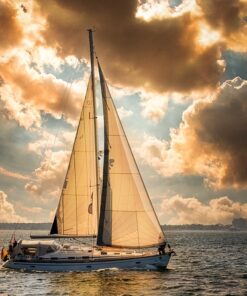 Plavba na lodi s plachtami