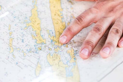 Prst na námořní mapě