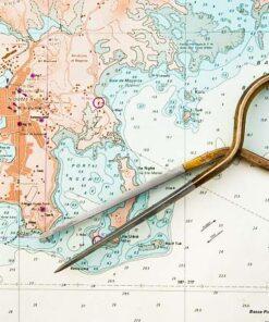Odpichovátko s námořní mapou